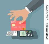 pos terminal transaction... | Shutterstock .eps vector #346739999