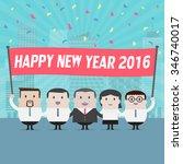 businessmen and businesswoman... | Shutterstock .eps vector #346740017