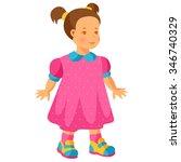 illustration of pretty little... | Shutterstock .eps vector #346740329