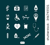 medical icons | Shutterstock .eps vector #346745531