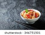 noodles with vegetables ... | Shutterstock . vector #346751501