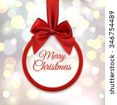 merry christmas  round banner... | Shutterstock .eps vector #346754489