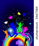 over the rainbow and reaching... | Shutterstock . vector #3467584