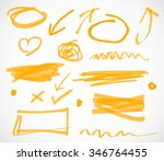 marker highlighter elements | Shutterstock . vector #346764455
