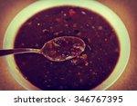 Fresh Hot Black Bean Soup In...