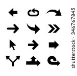 arrow vector set | Shutterstock .eps vector #346767845