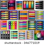 colorful modern text box... | Shutterstock .eps vector #346771019