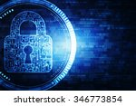 safety concept  closed padlock... | Shutterstock . vector #346773854