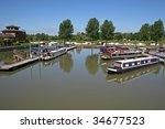 Barges In Tewkesbury Marina