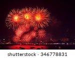 pattaya international fire work ... | Shutterstock . vector #346778831