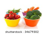 colorful bowls with a diversity ... | Shutterstock . vector #34679302