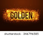 golden background with glitters....