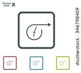 vector time icon.