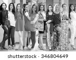 fashion collage. group of... | Shutterstock . vector #346804649