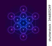 metatrons cube   flower of life.... | Shutterstock .eps vector #346805249