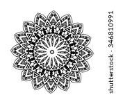 abstract design element. round... | Shutterstock .eps vector #346810991