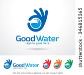 good water logo template design ... | Shutterstock .eps vector #346815365