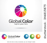global color logo template... | Shutterstock .eps vector #346815875