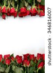 Stock photo red roses on a white background 346816007