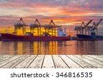 container cargo freight ship... | Shutterstock . vector #346816535