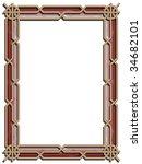 ornamental  border frame. | Shutterstock . vector #34682101