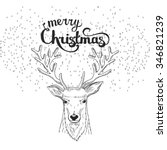 christmas and new year hand... | Shutterstock .eps vector #346821239