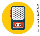 tape recorder or dictaphone...   Shutterstock .eps vector #346822619