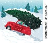 Retro Car Carries Christmas...