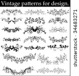 elements for design   Shutterstock .eps vector #34683271