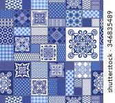 vector abstract seamless... | Shutterstock .eps vector #346835489