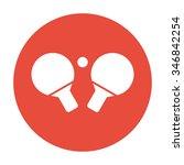 table tennis icon. flat design... | Shutterstock .eps vector #346842254