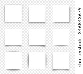 set of square papers with... | Shutterstock .eps vector #346843679