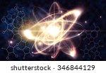 close up illustration of atomic ... | Shutterstock . vector #346844129