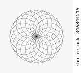 flower of life. sacred geometry.... | Shutterstock .eps vector #346844519
