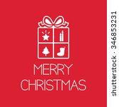 christmas gift | Shutterstock .eps vector #346853231