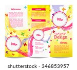 tri fold brochure template... | Shutterstock .eps vector #346853957
