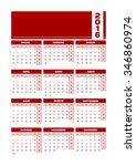 calendar 2016 spanish. vector... | Shutterstock .eps vector #346860974