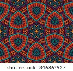 seamless vector colorful... | Shutterstock .eps vector #346862927
