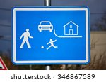 residential zones traffic sign  | Shutterstock . vector #346867589