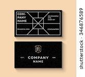 vector trendy business card... | Shutterstock .eps vector #346876589
