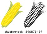 corn on the cob   sweetcorn... | Shutterstock .eps vector #346879439