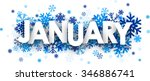 january sign with snowflakes