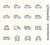 car line icon set | Shutterstock .eps vector #346900625