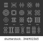 set of minimal geometric... | Shutterstock .eps vector #346902365