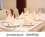 a view of a restaurant interior | Shutterstock . vector #3469026
