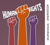 hand holding for human rights... | Shutterstock .eps vector #346905539