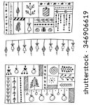hand drawn vector line border... | Shutterstock .eps vector #346906619
