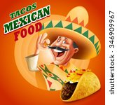 mexican food tacos | Shutterstock .eps vector #346909967