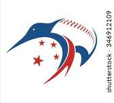 kiwi baseball   Shutterstock .eps vector #346912109