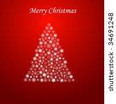 merry christmas | Shutterstock . vector #34691248